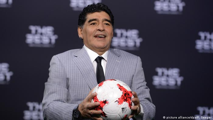 Diego Maradona (picture alliance/dpa/P. Seeger)