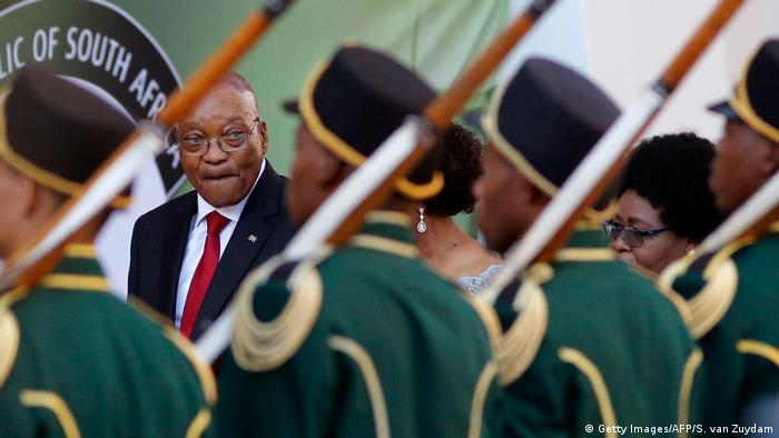South African President Zuma returns to parliament a week after chaotic address