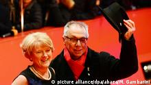 BERLIN, GERMANY - FEBRUARY 9: Minister of State and Federal Government Commissioner for Culture and the Media, Monika Gruetters and Berlinale-Director Dieter Kosslick pose on the red carpet during opening ceremony of the 67th Berlinale International Film Festival at Grand Hyatt Hotel in Berlin, Germany on February 9, 2017. Maurizio Gambarini / Anadolu Agency  