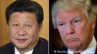 Bildkombo Xi Jinping und Donald Trump