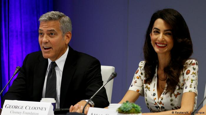 George and Amal Clooney (Foto: Reuters/K. Lamarque)