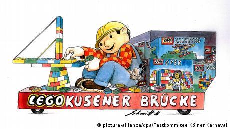 Deutschland Rosenmontagszug Köln - Entwürfe für Motivwagen (picture-alliance/dpa/Festkommitee Kölner Karneval)