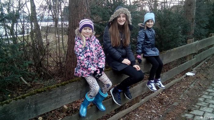 Kroatien Kinder der Auswandererfamilie Popovic
