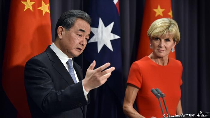 Australien Chinas Außenminister Wang Yi zu Besuch (Getty Images/AFP/M. Graham)