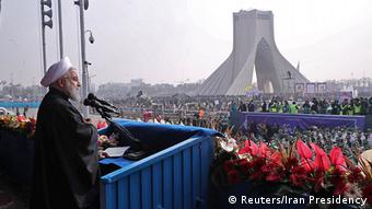 Iran Teheran Jahrestag Islamische Revolution Anti US Demo Ruhani (Reuters/Iran Presidency)