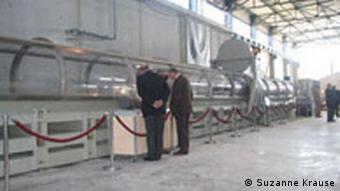 Das künftige Technologiezentrum der ANDRA für atomare Endlagerung in Saudron/Lorraine/Frankreich (Innenansicht), (23.10.08/Suzanne Krause)