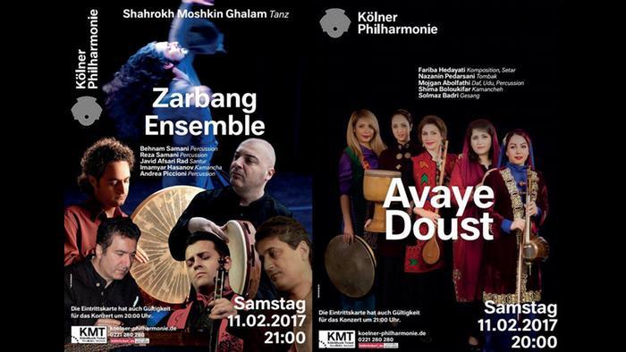 Köln Philharmonie Zarbang Ensemble Avaye Doust Flyer