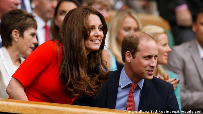 Wimbledon 2015 Prince William und Kate Middleton (picture alliance/Back Page Images/B. Queenborough)