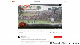 Screenshot Youtube - Angola Massenpanik bei Fussballspiel