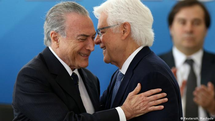 Brasilien - Michel Temer und Wellington Moreira Franco (Reuters/A. Machado)