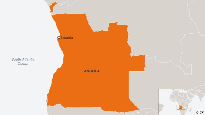 Karte Angola Luanda Englisch (DW)