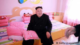 Nordkorea Diktator Kim Jong-un | Waisenschule in Pjöngjang (Getty Images/AFP)