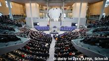 12.02.2017+++Berlin, Deutschland A general view shows the 1,260-strong special Federal Assembly, made up of national lawmakers and electors sent from Germany's 16 states, among them deputies but also artists, writers, musicians ahead of the presidential election at the Bundesversammlung federal assembly Bundestag (lower house of parliament)on February 12, 2017 in Berlin. 61-year-old Frank-Walter Steinmeier, who regularly polls as Germany's most popular politician, is set to be elected as the new ceremonial head of state. / AFP / Axel Schmidt (Photo credit should read AXEL SCHMIDT/AFP/Getty Images)