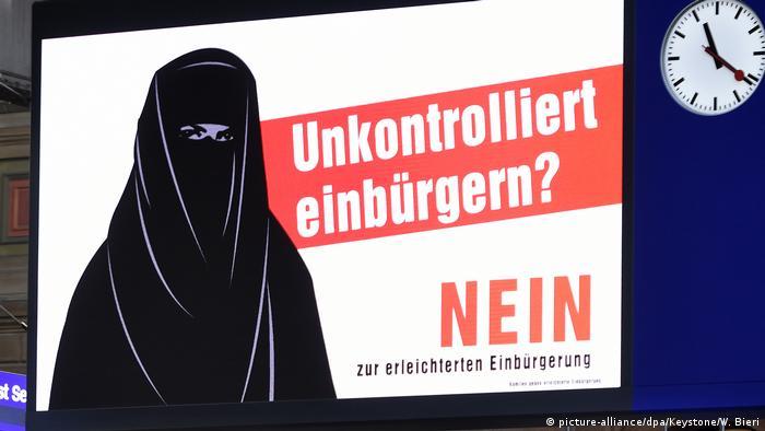 Плакати правопопулістів у Швейцарії