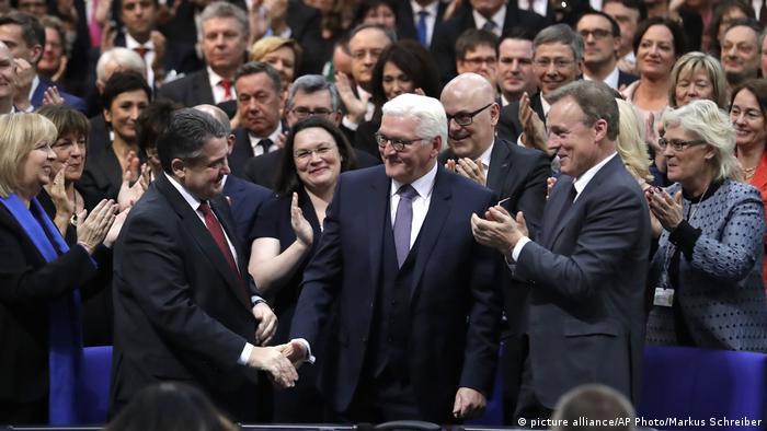 Berlin Wahl des Bundespräsidenten Frank-Walter Steinmeier (picture alliance/AP Photo/Markus Schreiber)