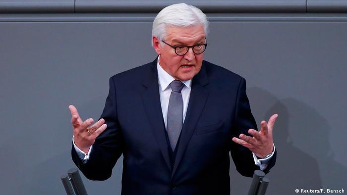 Reichstag in Berlin Bundesüräsident Steinmeier Antrittsrede (Reuters/F. Bensch)
