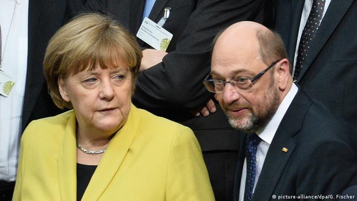 Ангела Меркель и ее соперник Мартин Шульц