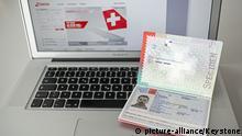 February 10, 2014.   The Swiss biometric passport, pictured in Bern, Switzerland, February 10, 2014.  