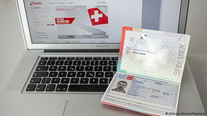 Schweiz Einreise Biometrischer Pass