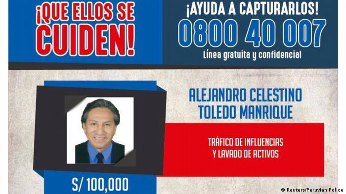Internationaler Haftbefehl Alejandro Toledo (Reuters/Peruvian Police)
