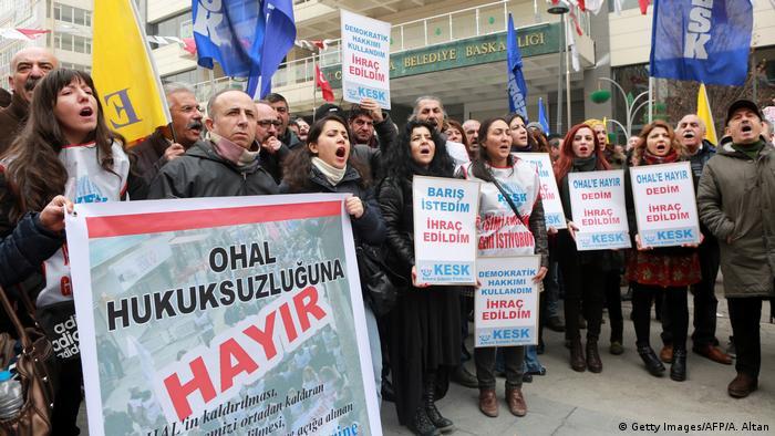 Türkei Ankara Protest gegen Entlassungen