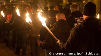 Марш правых радикалов в Магдебурге