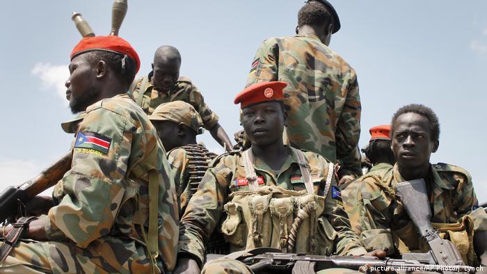 Südsudan Kämpfer