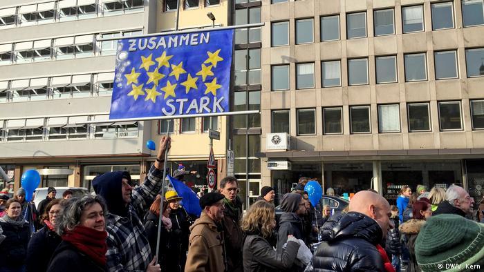 Frankfurt Pulse Pro-Europa-Demo