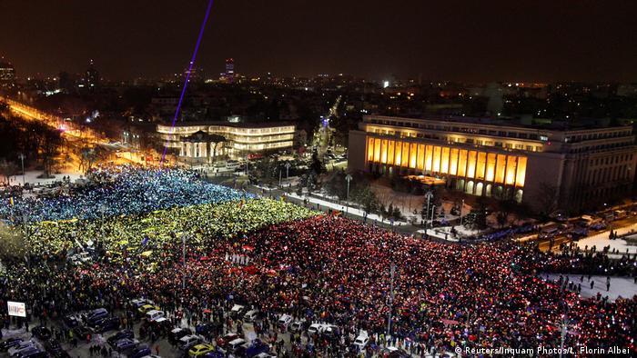 Proteste antiguvernamentale la Bucureşti, în februarie 2017