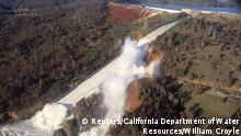 USA Kalifornien Oroville Damm Erosionsschäden (Reuters/California Department of Water Resources/William Croyle)