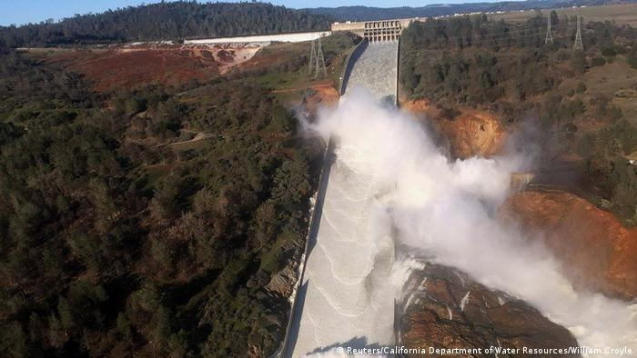 USA Kalifornien Oroville Damm Erosionsschäden (Reuters/California Department of Water Resources/William Croyle)