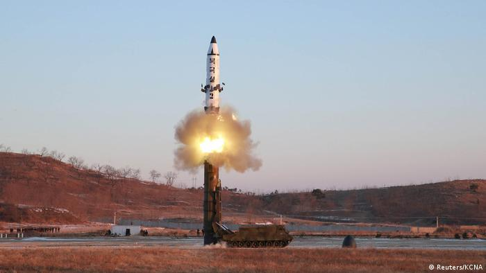 Nordkorea Raketentest Pukguksong-2 (Reuters/KCNA)