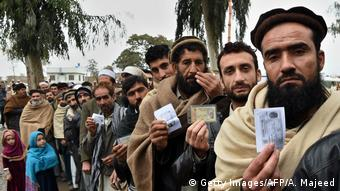Afghan refugees at the UNHCR center in Chamkani, on the outskirts of Peshawar