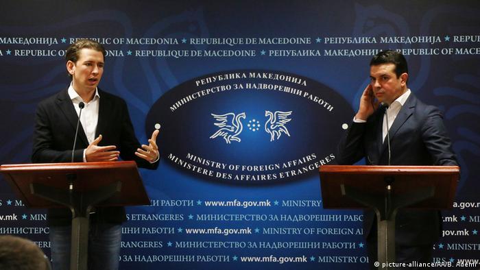 Mazedonien Besuch österreichischer Außenminister Kurz