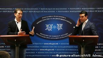 Ο Κουρτς με τον ομόλογό του της ΠΓΔΜ Νίκολα Ποπόφσκι