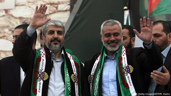 Gaza Streifen Maschaal und Haniya in Gaza City (Getty Images/AFP/M. Hams)