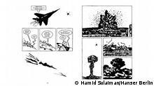 """Thema: Freedom Hospital, Graphic Novel von Hamid Sulaiman Motiv: Zeichnungen aus Freedom Hosptital DatuM. 13.02.2017 (c) """"aus dem besprochenen Band, © Hamid Sulaiman/Hanser Berlin"""""""