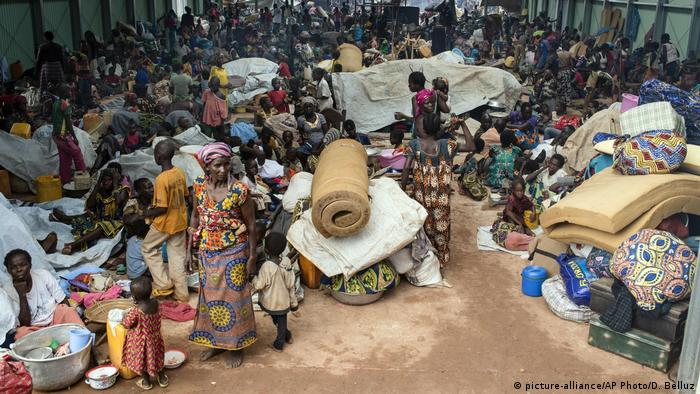 A camp for refugees in the Central African Republic