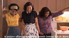 This image released by Twentieth Century Fox shows Janelle Monae, from left, Taraji P. Henson and Octavia Spencer in a scene from Hidden Figures. (Hopper Stone/Twentieth Century Fox via AP)