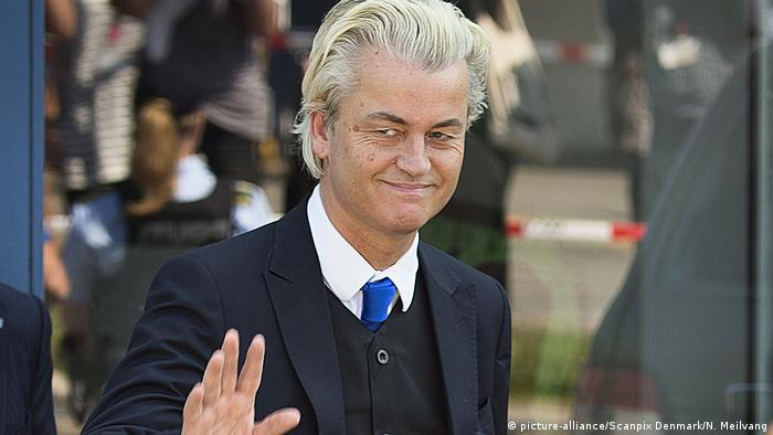 Dänemark Geert Wilders in Allinge (picture-alliance/Scanpix Denmark/N. Meilvang)
