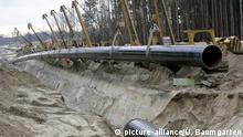 Deutschland Bau der Ostsee-Pipeline-Anbindungsleitung