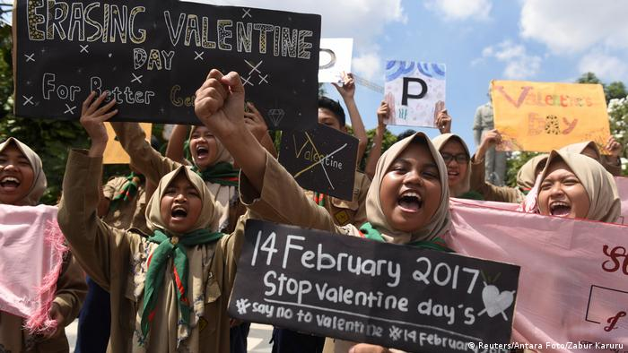 Indonesien Protest gegen Valentinstag