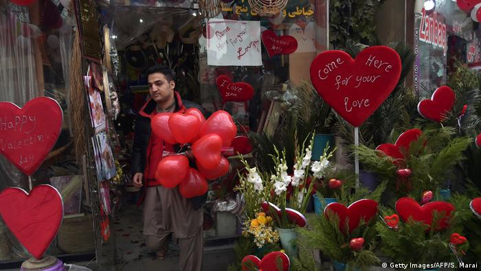 Afghanistan Valentinstag in Kabul (Getty Images/AFP/S. Marai)