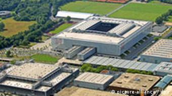 LTU Arena südwestlich des Flughafengeländes in Düsseldorf
