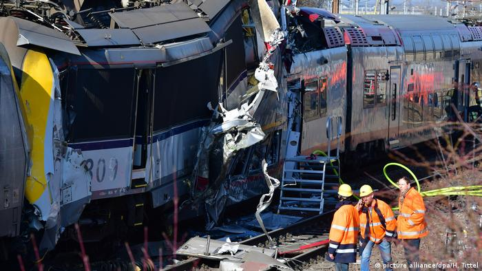 Driver dies in Luxembourg train crash