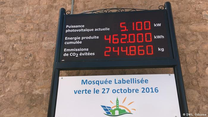 BG Greening Morocco's mosques   Panel on electricity intake at the Koutoubia Mosque in Marrakesh