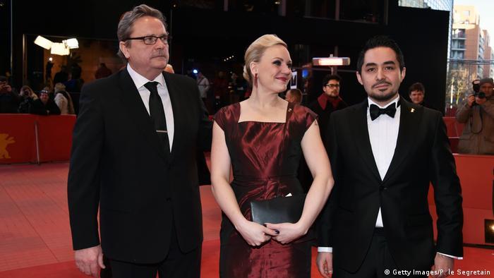 Berlinale 2017 | Aki Kaurismäki & Nuppu Koivu & Sherwan Haji (Getty Images/P. le Segretain)