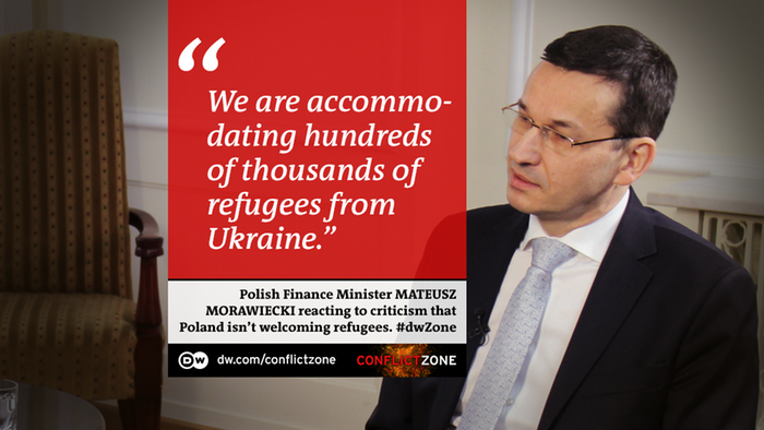DW Conflict Zone - Zitat Mateusz Morawiecki, polnischer Finanzminister