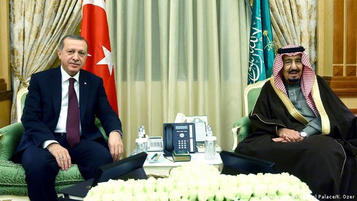 Saudi-Arabien Treffen Erdogan mit König Salman in Riad (Reuters/Presidential Palace/K. Ozer)