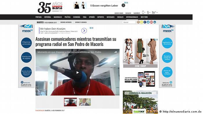 Un locutor y el director de la emisora dominicana 103.5 FM de San Pedro de Macorís fueron asesinados mientras leía las noticias en vivo sobre caso de corrupción de Odebrecht en República Dominicana. 14.02.2017